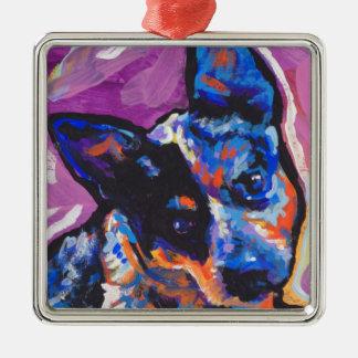 australian cattle dog Bright Colorful Pop Dog Art Christmas Ornament