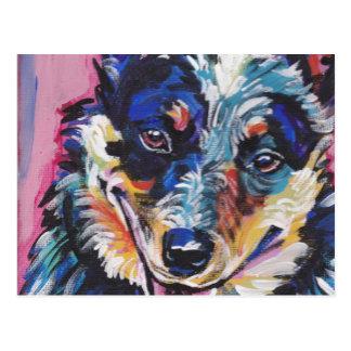 australian cattle dog Bright Colorful Pop Dog Art Postcard
