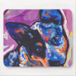 australian cattle dog Bright Colourful Pop Dog Art Mouse Pad