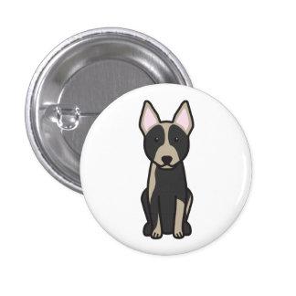 Australian Cattle Dog Cartoon 3 Cm Round Badge