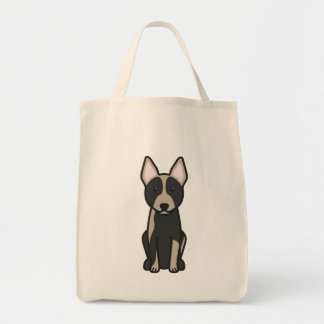 Australian Cattle Dog Cartoon Bag