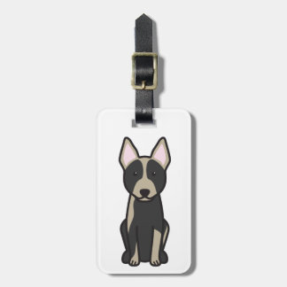 Australian Cattle Dog Cartoon Bag Tag
