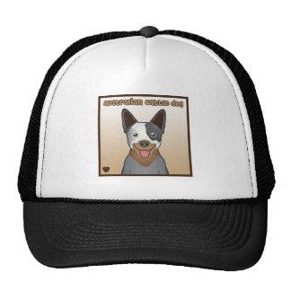 Australian Cattle Dog Cartoon Mesh Hats