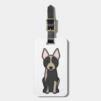 Australian Cattle Dog Cartoon Luggage Tag