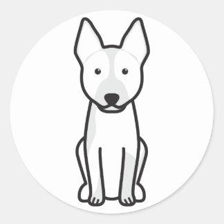 Australian Cattle Dog Cartoon Round Sticker