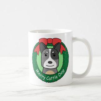 Australian Cattle Dog Christmas Basic White Mug