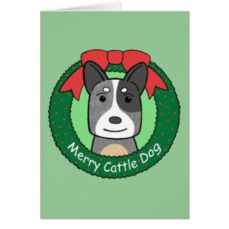 Australian Cattle Dog Christmas Card