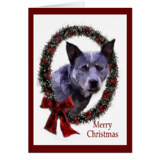 Australian Cattle Dog Christmas Gifts Card