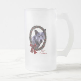 Australian Cattle Dog Christmas Gifts Frosted Glass Mug