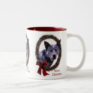 Australian Cattle Dog Christmas Gifts Two-Tone Coffee Mug