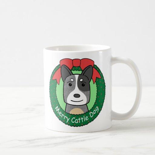 Australian Cattle Dog Christmas Coffee Mugs