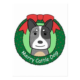 Australian Cattle Dog Christmas Postcard