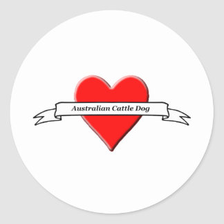 Australian Cattle Dog Classic Round Sticker