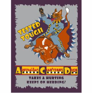 Australian Cattle Dog - Crash Test Dummies Photo Sculpture Badge