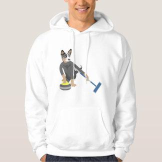 Australian Cattle Dog Curling Hoodie