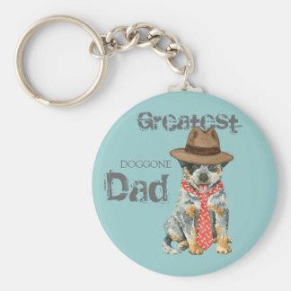 Australian Cattle Dog Dad Basic Round Button Key Ring
