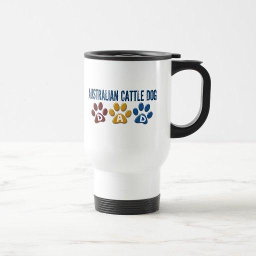 AUSTRALIAN CATTLE DOG DAD Paw Print Coffee Mugs