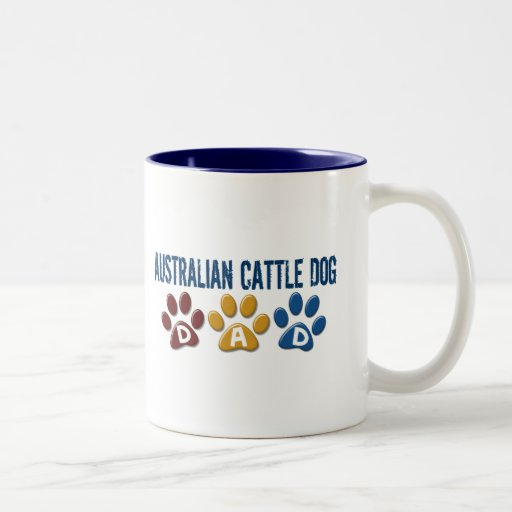 AUSTRALIAN CATTLE DOG DAD Paw Print Coffee Mug
