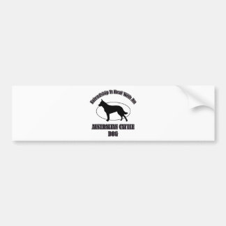 AUSTRALIAN CATTLE DOG DOG DESIGNS BUMPER STICKERS