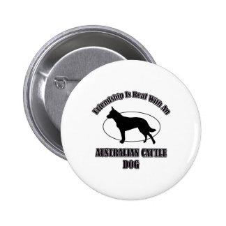 AUSTRALIAN CATTLE DOG DOG DESIGNS BUTTONS