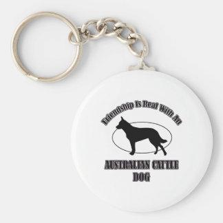 AUSTRALIAN CATTLE DOG DOG DESIGNS KEYCHAINS
