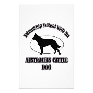 AUSTRALIAN CATTLE DOG DOG DESIGNS STATIONERY DESIGN