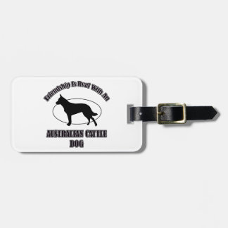 AUSTRALIAN CATTLE DOG DOG DESIGNS TAGS FOR LUGGAGE
