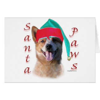 Australian Cattle Dog Dog Santa Paws Card