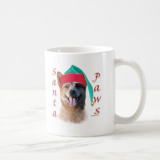 Australian Cattle Dog Dog Santa Paws Coffee Mugs