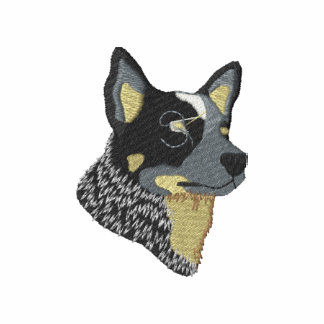 Australian Cattle Dog Embroidered Fleece Jogger Jacket