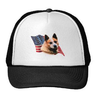 Australian Cattle Dog Flag Trucker Hats