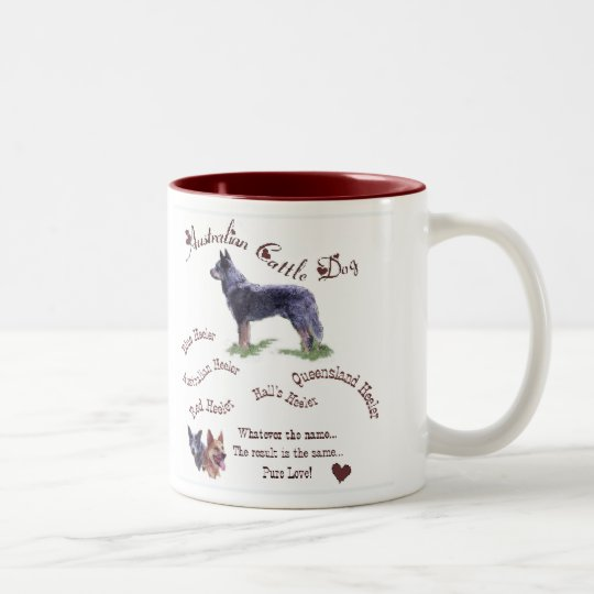 Australian Cattle Dog Gifts Two-Tone Coffee Mug