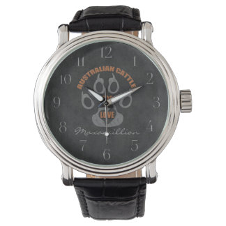 Australian Cattle Dog Gray Custom Watches