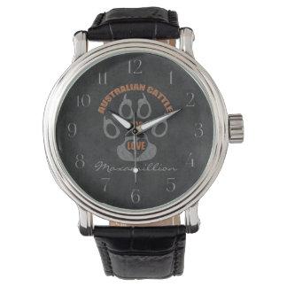 Australian Cattle Dog Gray Custom Watches