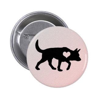 Australian Cattle Dog Heart Button