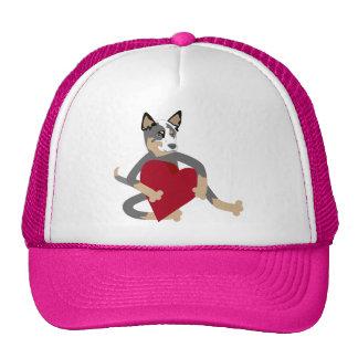 Australian Cattle Dog Heart Cap