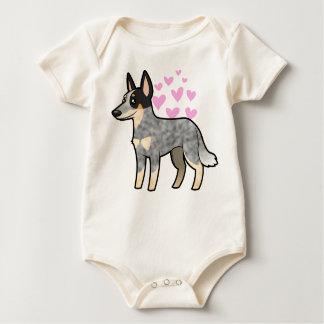 Australian Cattle Dog / Kelpie Love Baby Bodysuit