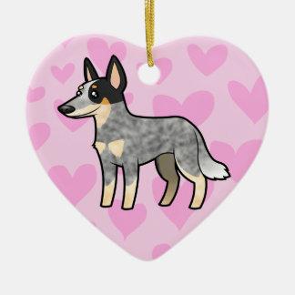 Australian Cattle Dog / Kelpie Love Ceramic Heart Decoration