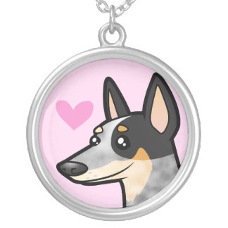 Australian Cattle Dog / Kelpie Love Silver Plated Necklace