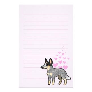 Australian Cattle Dog / Kelpie Love Stationery