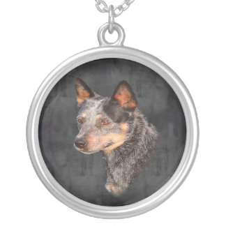 Australian Cattle Dog Large Silver Plated Necklace