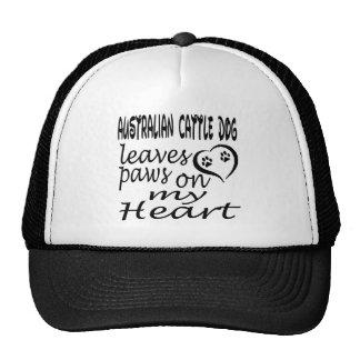 Australian Cattle Dog Leaves Paws On My Heart Mesh Hat
