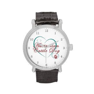 Australian Cattle Dog Love Wristwatches