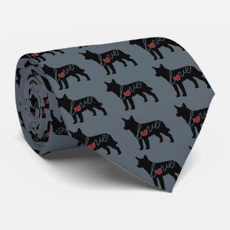 Australian Cattle Dog Love Tie