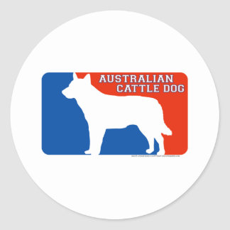 Australian Cattle Dog Major League Dog Sticker