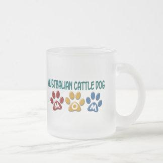 AUSTRALIAN CATTLE DOG MOM Paw Print Coffee Mugs