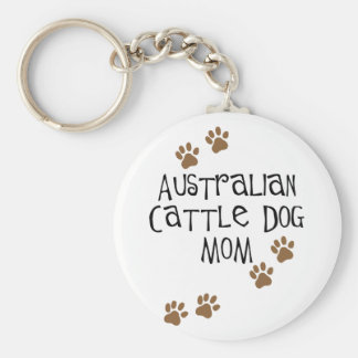 Australian Cattle Dog Mom t-shirts & gifts Basic Round Button Key Ring