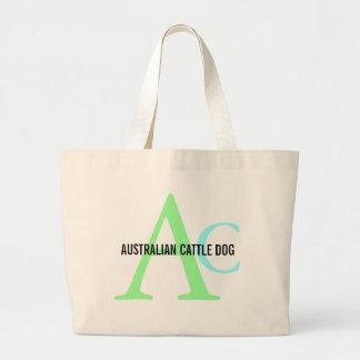 Australian Cattle Dog Monogram Canvas Bags