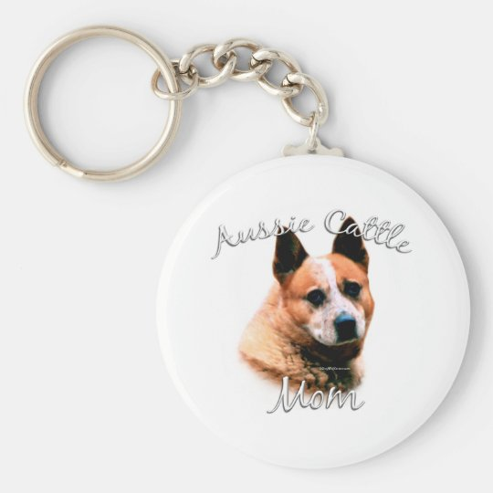 Australian Cattle Dog Mum 2 Basic Round Button Key Ring