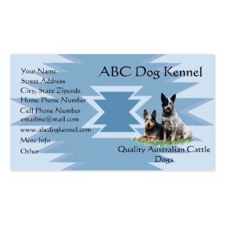 Australian Cattle Dog on Blue Indian Design Pack Of Standard Business Cards